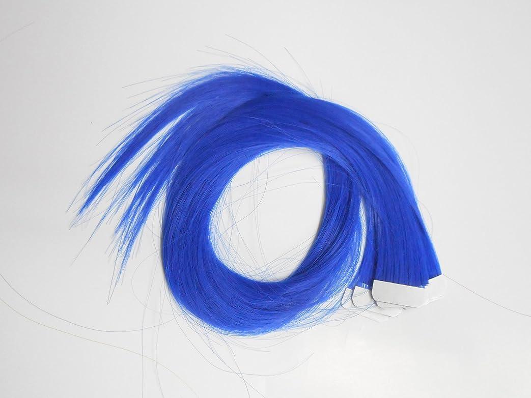 追う恐ろしい定規簡単エクステ テープエクステンション シールエクステンション 10枚入 10色カラー (ブルー)