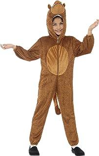 Smiffy'S 30017 Disfraz De Camello Con Traje Entero Con Capucha, Marrón, M - Edad 7-9 Años