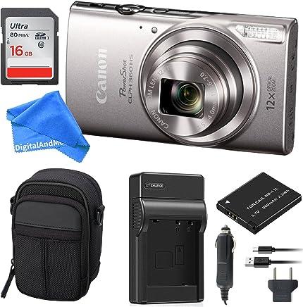 Canon PowerShot ELPH 360°Cámara Digital w/Wi-Fi y NFC (plata) esencial Bundle
