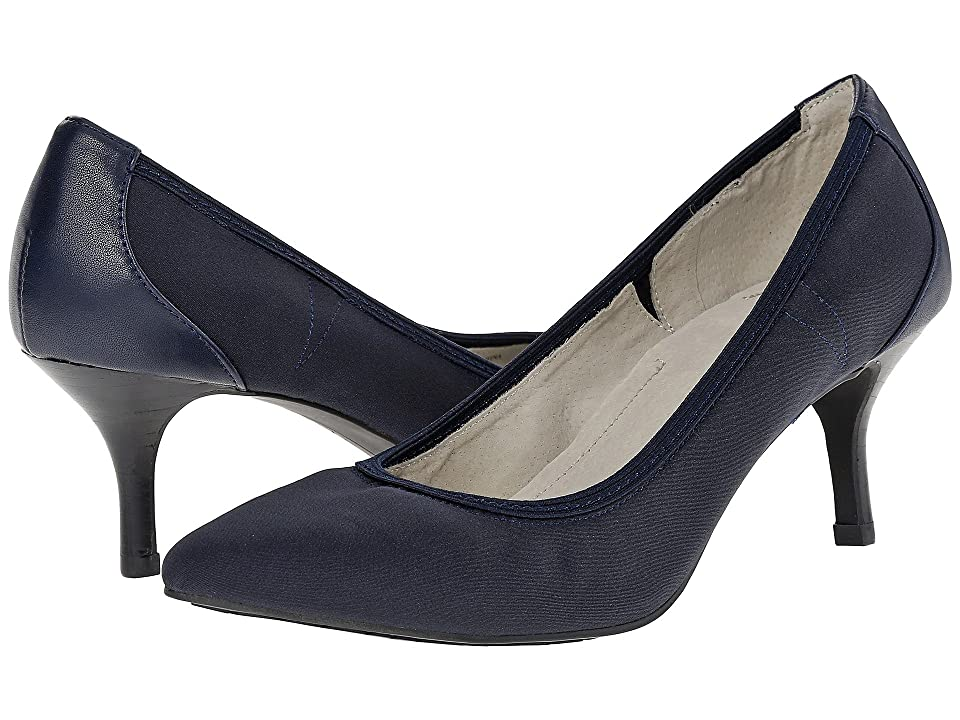 Tahari Toby (Dark Navy Tricot/Soft Nappa) High Heels