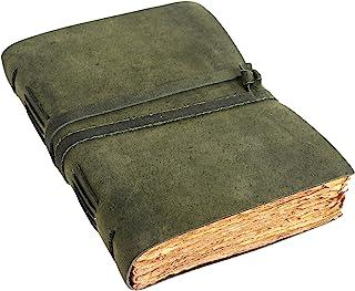 Vintage Leather Journal for women and men 8 x 6 inch Antique Handmade Deckle Edge Vintage Paper Leather Sketchbook - Book ...