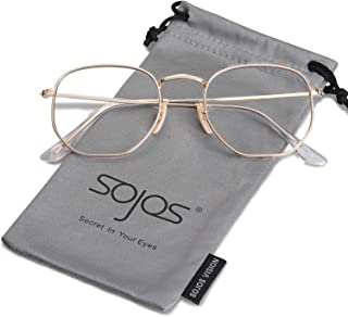 97f7d110a0e2 SOJOS Small Square Polarized Sunglasses for Men and Women Polygon Mirrored  Lens SJ1072