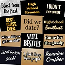 High School Class Reunion Photo Booth Props Party Signs - Set of 12 (Class Reunion)