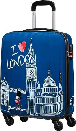 American Tourister Disney Legends Spinner S Bagage Cabine Enfant, 55 cm, 36 L, Bleu (Take Me Away Mickey London)