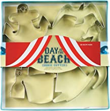 Fox Run 36016 Day at the Beach Cookie cutters, 5.25 x 7.25 x 1 inches, Metallic