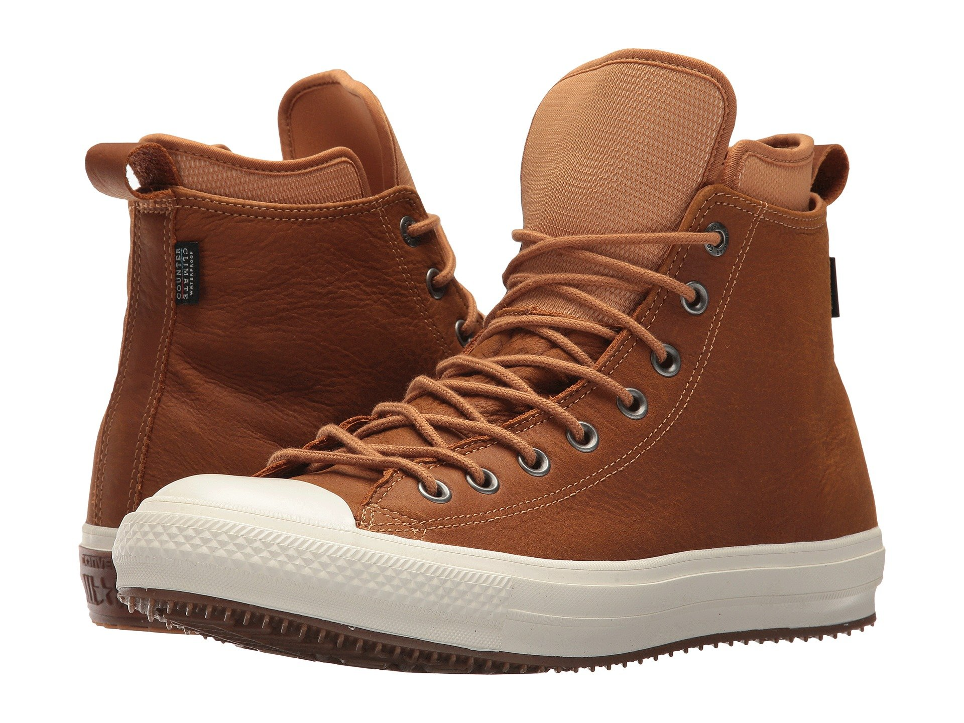 58b3c2741d6 CONVERSE. Chuck Taylor® All Star® Waterproof Boot Nubuck Hi in Raw Sugar  Egret Gum