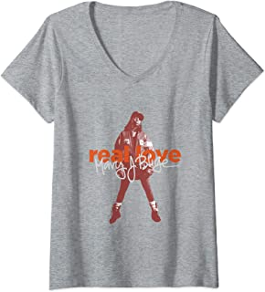 Womens Mary J. Official Blige Real Love V-Neck T-Shirt
