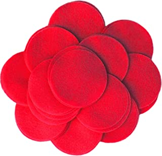 Playfully Ever After 2.5 Inch Red 46pc Felt Circles