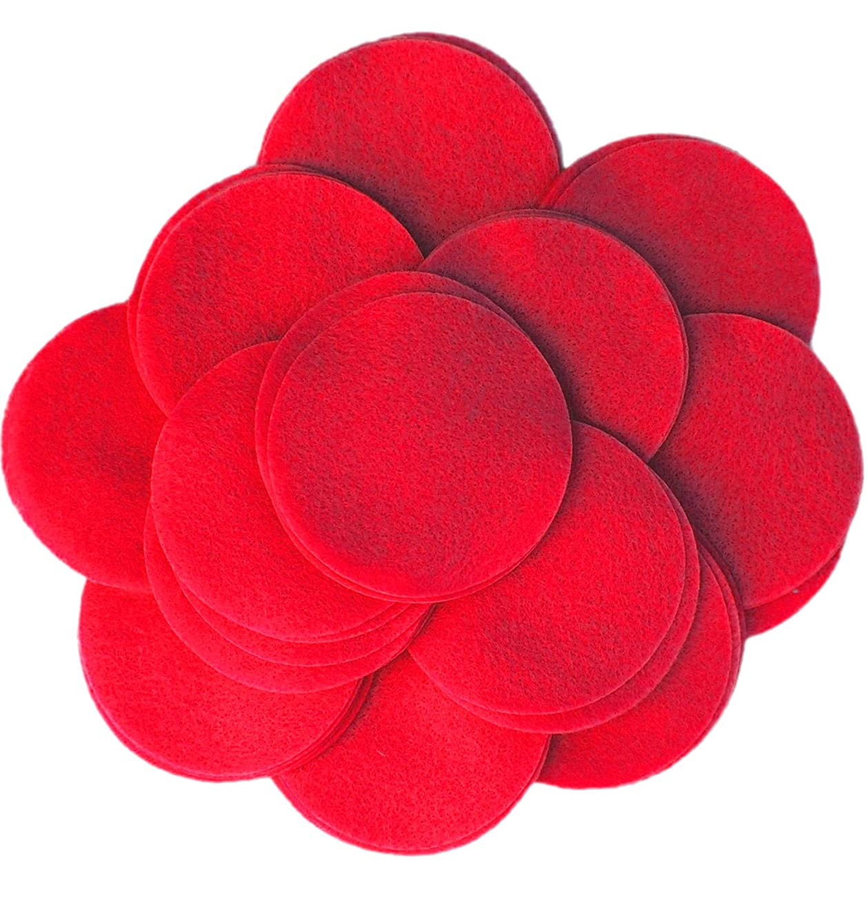 Playfully Ever After 5 Inch Red 18pc Felt Circles