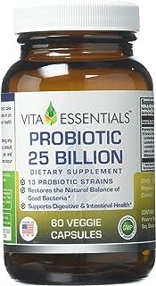 Vita Essentials Probiotic 13 Strains 25 Billion Veggie Capsules, 60 Count