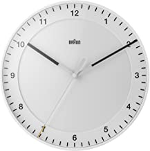 braun wall clock white