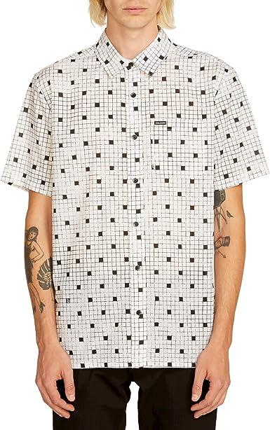 Volcom Crossed Up S/s Camisa Manga Corta Hombre Blanco