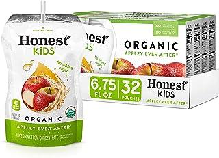 Honest Kids Appley Ever After, Apple Organic Fruit Juice Drink, 6.75 Fl Oz (32 Pack)
