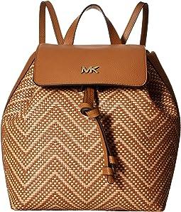 13f6416426b2 MICHAEL Michael Kors. Junie Medium Flap Backpack. $197.99MSRP: $358.00.  Acorn/Butternut