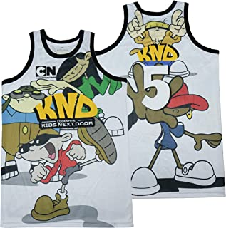 Men's #5 KND Cartoon Network Codename Kids Next Door Basketball Jersey Stitched Size M
