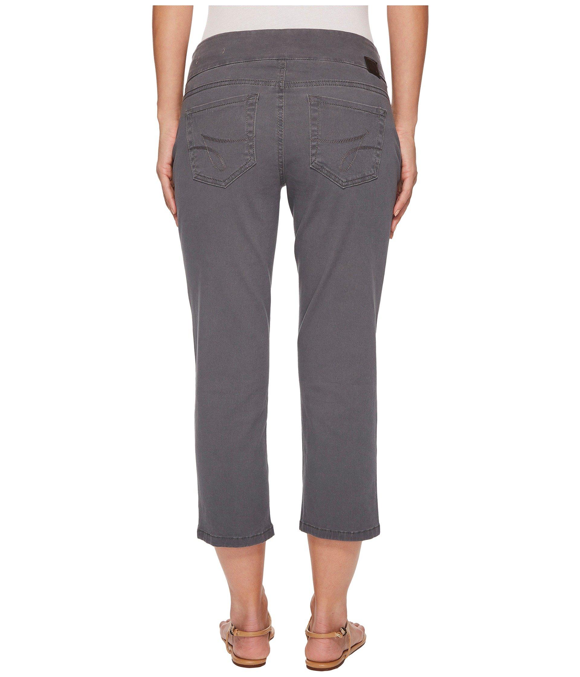 Jeans Crop Straight Grey Peri Jag Streak Pull Twill on fwzvqqYd