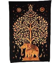 Tagesdecke Elefanten Indien Mandala Doppelbett Decke Wandbehang Bettüberwurf O1