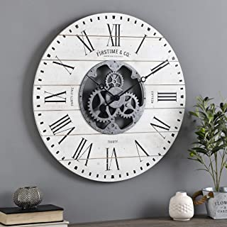 FirsTime & Co. Shiplap Gears Wall Clock, 27