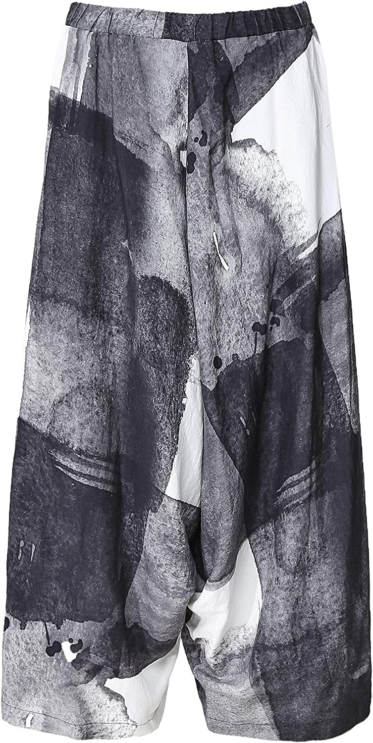 Crea Concept Women's Abstract Print Culottes Black
