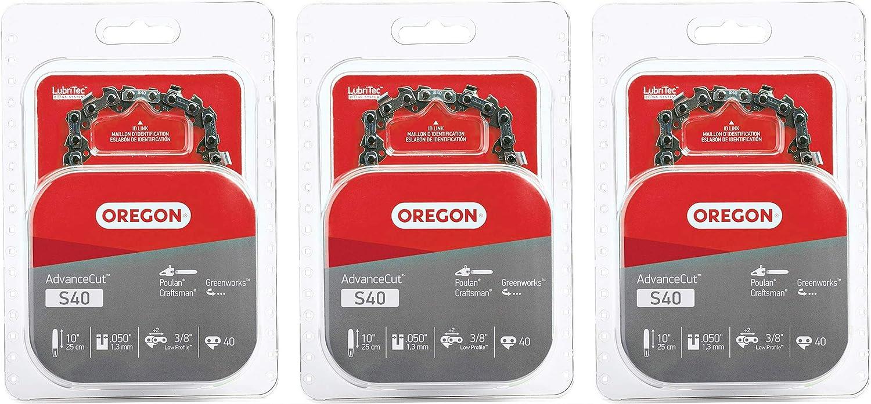 Oregon S40 AdvanceCut 10-Inch Chainsaw Chain Remington,Brown//A Fits Craftsman 2 Pack Poulan