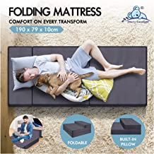 STARRY EUCALYPT Folding Mattress Sofa Lounge Portable Tri-Fold Foam Mattress Floor Bed (190 x 79 x 10cm)