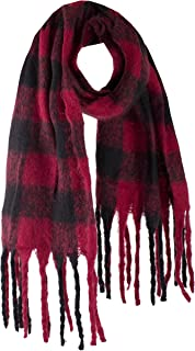 StylesILove Women Fluffy Buffalo Check Tassel Cozy Scarf Winter Shawl Fashion Wrap, 3 Colors