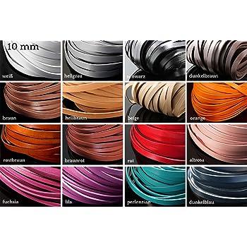LB-20//10 INWARIA Lederband flach 10 mm 1 m Lederriemen Rindsleder Echt Leder