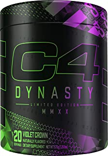 C4 Dynasty MMXX Pre Workout Powder Violet Crown | Preworkout Energy Supplement for Men & Women | 350mg Caffeine + 6.4g Bet...