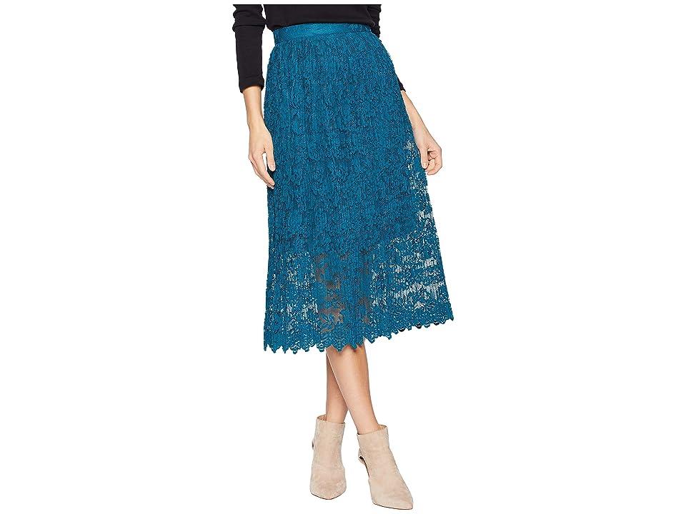 ROMEO & JULIET COUTURE Lace Midi Dress (Shadow Blue) Women