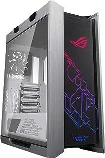 Asus ROG Strix Helios White Edition ATX Mid Tower Estuche para Juegos, con Tres Paneles de Vidrio Templado Ahumado y construcción de Aluminio Cepillado Refinado, y tecnología Aura Sync