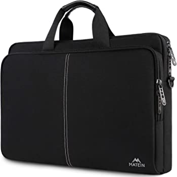Laptop Case 17 Inch, Laptop Carrying Case Slim Laptop Bag for Men Women, Lightweight 17.3 Inch Laptop Case Fit 17.3 17 15.6 Inch Laptops for College School Office Business Travel, Black