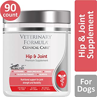 VETERINARY FORMULA CLINICAL CARE Premium Dog Supplement, Hip & Joint, 90 Soft Chews – Promotes Dog Joint Health, Clinically Proven Dog Supplement, for Dogs