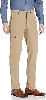 Haggar mens Active Series Slim-Straight Fit Flat Front Urban Pant Casual Pants
