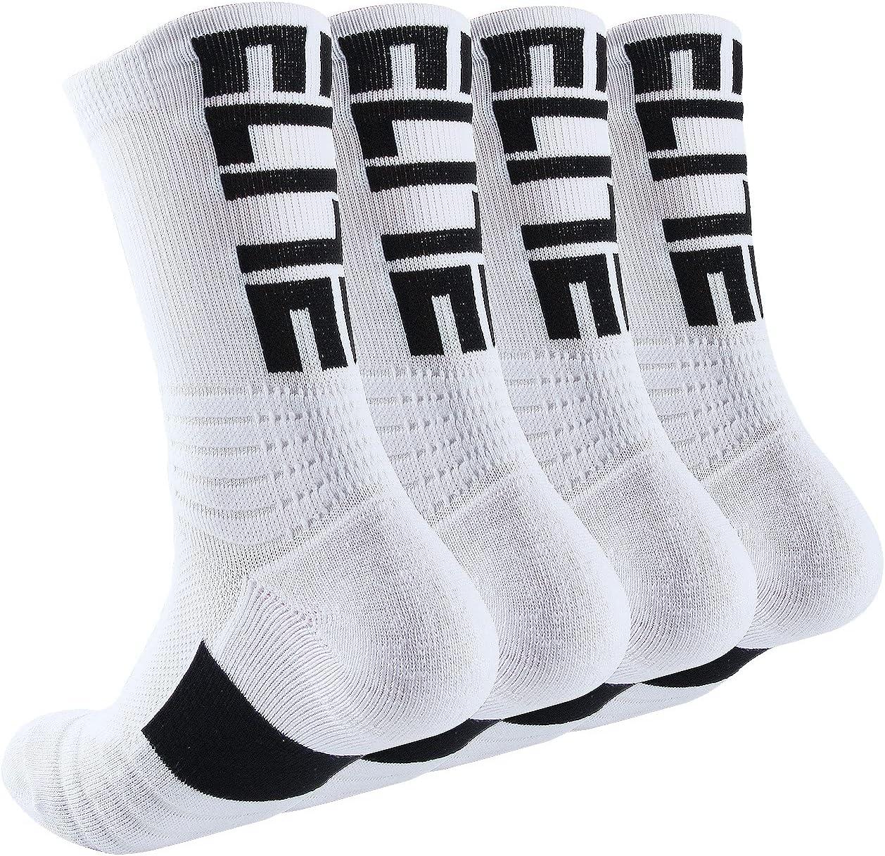 Popular brand in the world DILIBA Boys Basketball Socks Athletic Rare Cushion for Mid-Calf