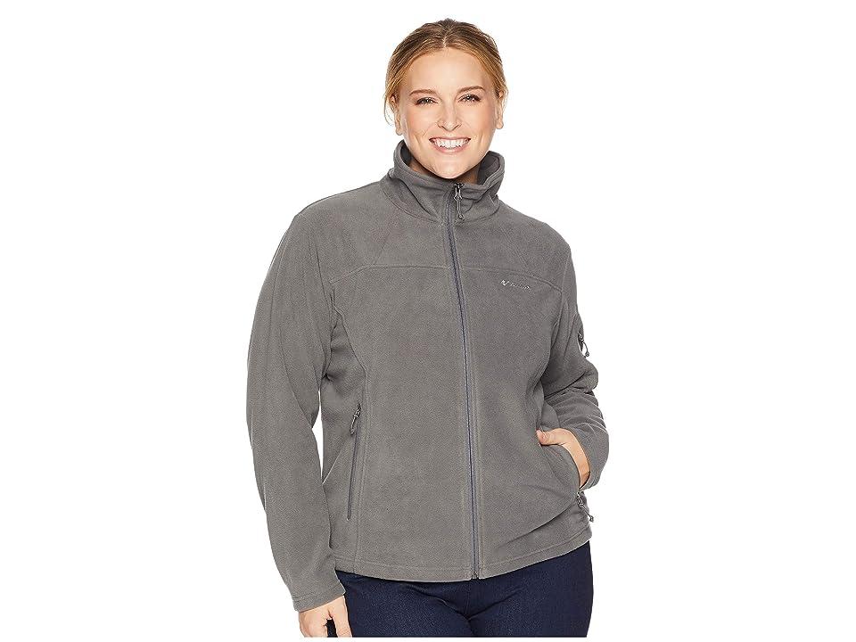 Columbia Plus Size Fast Trektm II Full Zip Fleece Jacket (Charcoal Heather) Women