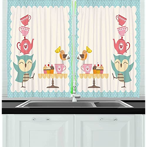 Pleasant Vintage Kitchen Curtains Amazon Com Home Remodeling Inspirations Cosmcuboardxyz