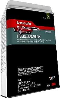 Bondo Fiberglass Resin, Stage 2, For Repairing, Resurfacing, or Rebuilding Metal, Wood, Fiberglass or Masonry, 115 US Fl Oz.