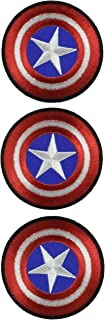 Lot of 3 Pieces, 2.7 Inches Captain America Shield Iron on Patch Logo Fabric Applique