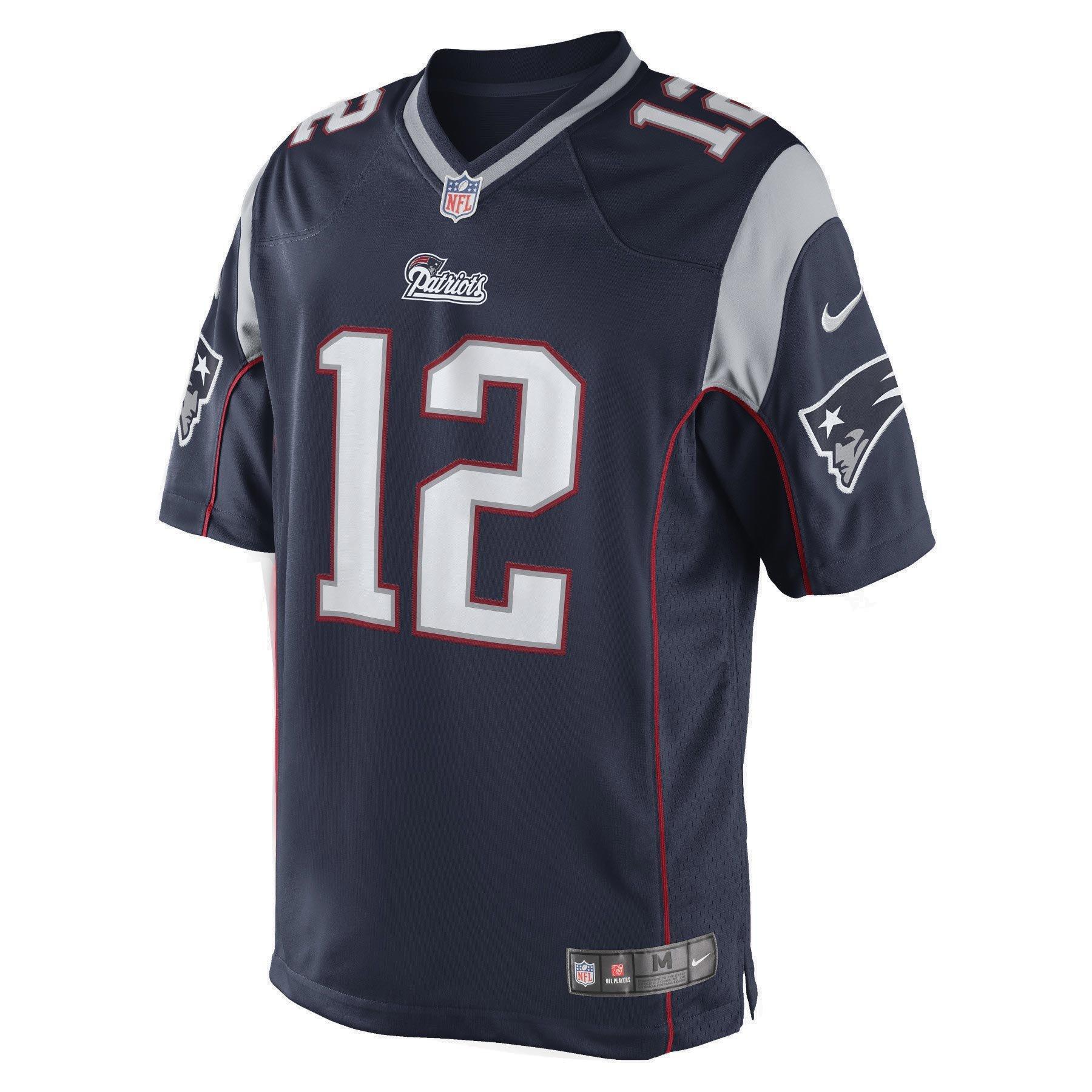 Nike Mens New England Patriots Limited Team Jersey Tom Brady 468929-419