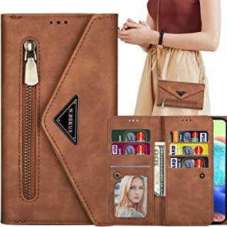Harsel 7 Card Slots Zipper Pocket Magnetic PU Leather Crossbody Wallet Women Purse Envelope Folio Flip Handbag Case Protec...