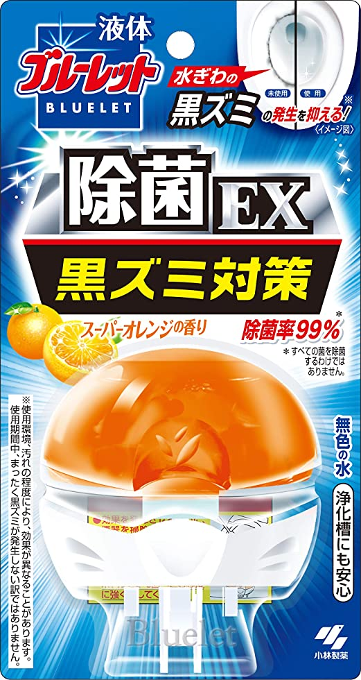 岸震える返還液体ブルーレットおくだけ除菌EX トイレタンク芳香洗浄剤 本体 スーパーオレンジの香り 70ml
