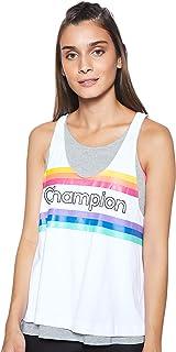Champion Women's 111327 EM006OXGM/WHT Tank Top 111327 EM006OXGM/WHT