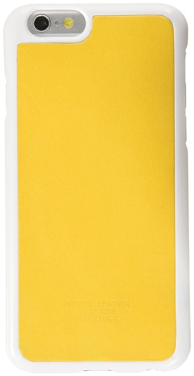 火山学アンデス山脈インデックスティーポシリーズ iphone6/6S用 ポイント カバー イエロー 20356