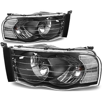 DNA Motoring HL-OH-DR02-BK-CL1 Headlight Assembly (Driver & Passenger Side),Black clear