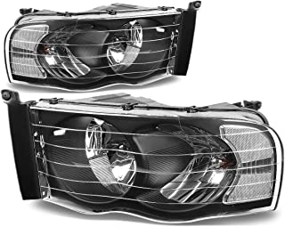 DNA Motoring HL-OH-DR02-BK-CL1 Headlight Assembly (Driver & Passenger Side)