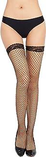 DDSCOLOUR Black Fishnets Stockings for Women Plus Size Lace Nylon Thigh High Hold-Up Stockings Fishnet Top Over Knee Socks...