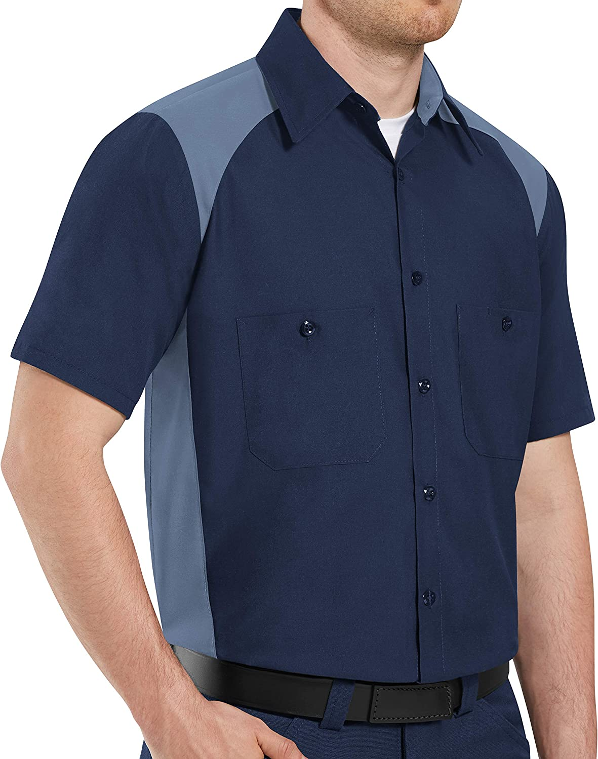 Red Kap Men's Tall Size Max 49% OFF Motorsports Short Shirt low-pricing Sleeve