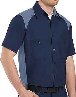 Red Kap Men's Tall Size Motorsports Shirt, Short Sleeve