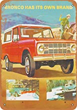Tisigns Vintage Metal Tin Sign 1967 Ford Bronco 8 x 12 Inches Retro Tin Signs Wall Decor