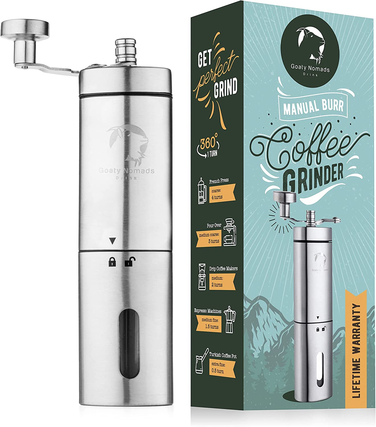 Coffee Max 47% OFF Hand Grinder - Manual Ranking TOP14 For Camping And Burr